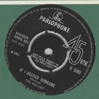 Hollies If I needed someone Parlophone R.5392 VG+