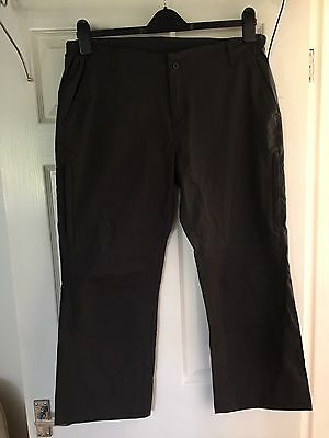Ladies Brown Cropped Walking Trekking Trousers From Regatta, Size 16