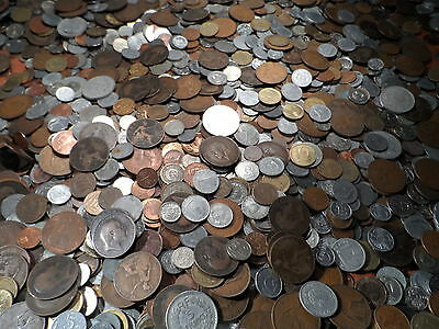 100 BIG COLLECTION OF BRITISH AND WORLD COINS VICTORIA bulk lot 100