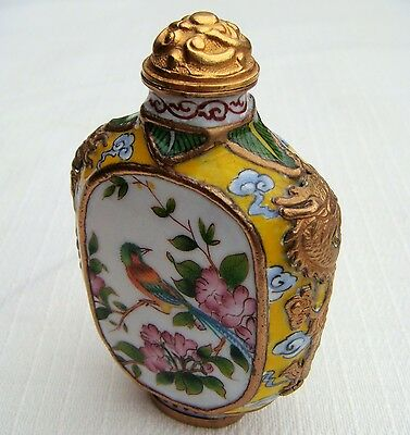 Snuff Bottle, Snuffbottle, Cloisonne, Emailmalerei, China, Feng Shui