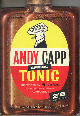 ANDY CAPP SPRING TONIC  - SMYTHE - DAILY MIRROR 1959 PB -  Book 2 in series - VG