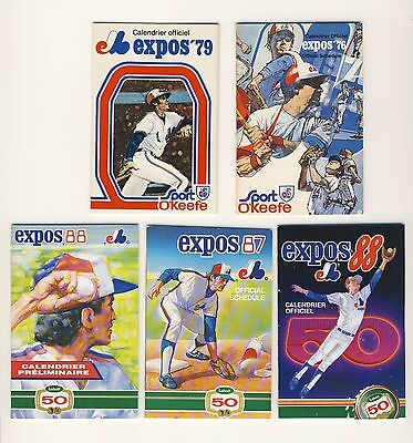 Lot Of 10 Montreal Expos Schedules