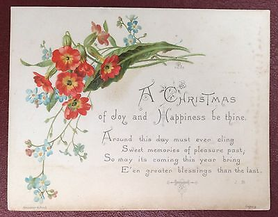 Vintage Greeting Card - A Christmas Of Joy And Happiness Be Thine