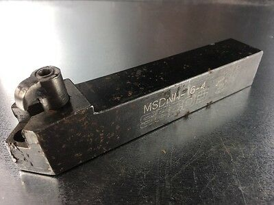 "Seco Indexable Carbide Insert Lathe Tool Holder 1"" Shank MSDNN-16-4"