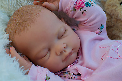 Reborn Baby Girl Doll Realistic Lifelike Lucy byTina Kewy full limbs