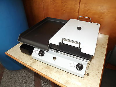 LPG GAS GRIDDLE / SHALLOW FRYER / Combination Grill 51 x 40 cm
