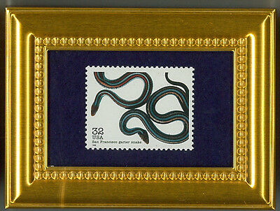 Garter Snake San Francisco Gift Collectible Glass Framed Postage Masterpiece