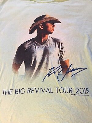 Kenny Chesney The Big Revival Tour 2015 T-Shirt Size M
