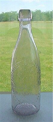 Phoenix-Bottling Company For H.clausen & Son N.y -Sca Blob Top Beer  Bottle