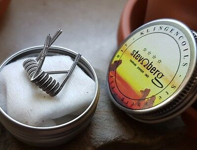 2x Staggered Fused Clapton Coil, Kanthal, Stainless Steel, RDA, RTA, RDTA