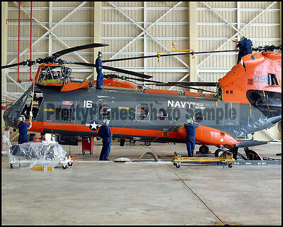 USN H-46 Sea Knight HC-5 Providers Anderson AFB 2002 8x10 Photo