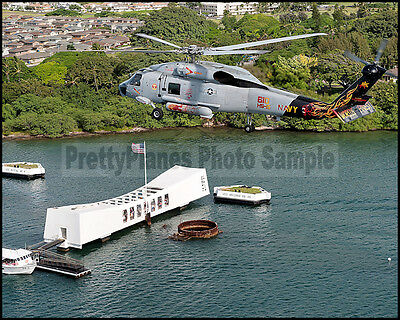 USN SH-60 Sea Hawk Helicopter HS-15 Pearl Harbor 2011 8x10 Aircraft Photos