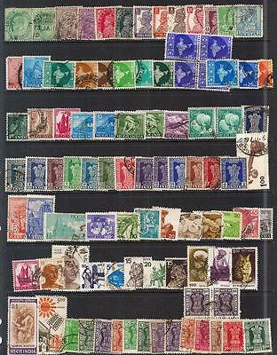 India--100+Small Collection Fine Used--2 Scans