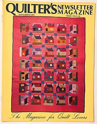 17 issues of Quilter's Newsletter Magazine (1982-1987) Very Good condition