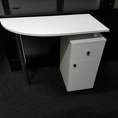 WHITE Manicure Technicians Table Station Nail Bar ,BRAND NEW