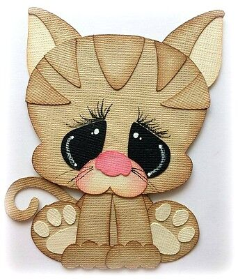 *new* Pound Pal Kitty Cat One Premade Paper Piecing Piece 3D Die Cut Mytb Kira