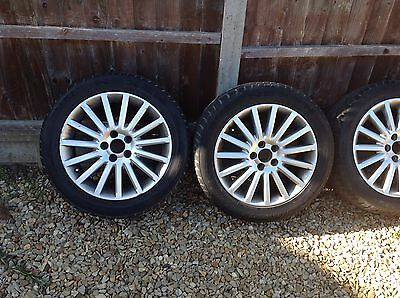 4 Volvo 17 inch alloy wheels with tyres