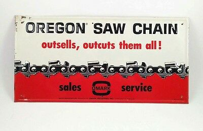 Vintage 60S Oregon Saw Chain Chainsaw Sign Logger