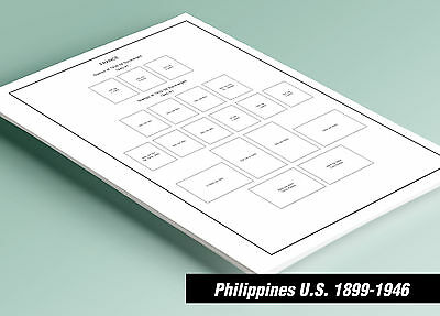 PRINTED U.S. PHILIPPINES 1899-1946 STAMP ALBUM  PAGES (37 pages)
