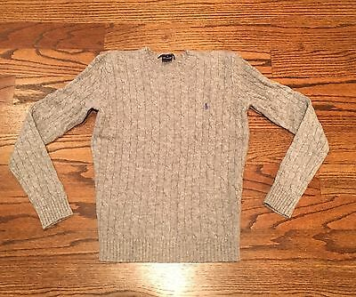 Ralph Lauren Women's Wool Gray Cable Knit Sweater Small