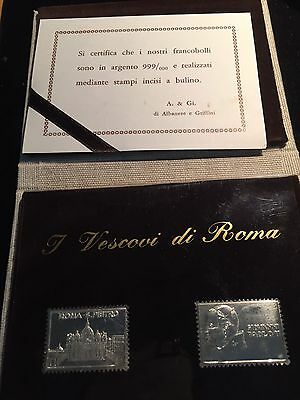Silver Stamps Of Pope Paolo..