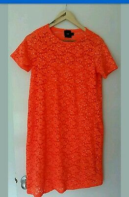 Asos Maternity Dress size 10 bright orange with sparkles