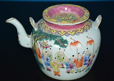 Fine Chinese Famille Rose Porcelain Teapot Marked Guangxu H4939