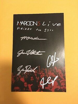 ADAM LEVINE MAROON 5 Band SIGNED AUTOGRAPH DVD Booklet Friday the 13th