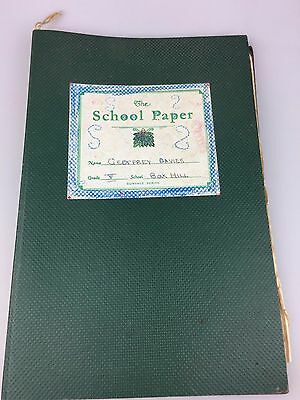 Vintage - The School Paper Binder + Papers - February-December 1963 - Grades 5/6