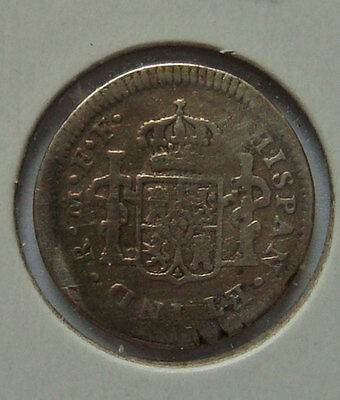 SPANISH COIN  1783; 1/2 Reales Spain .903 silver CAROLUS III ...SPAIN
