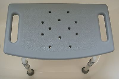 Adjustable Shower Bath Chair Seat Bench - Gray - No Backrest - Up to 300 lbs.