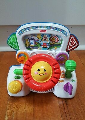 fisher price laugh and rumble steering wheel driving toy