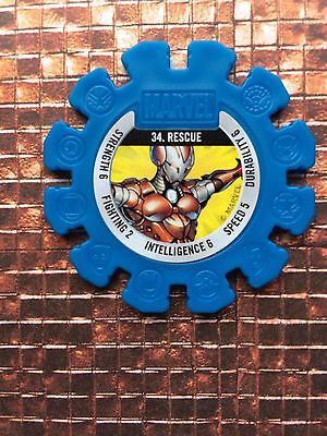 Marvel Heroes Disc Collectables (Woolworths /woolies) No 34 Rescue