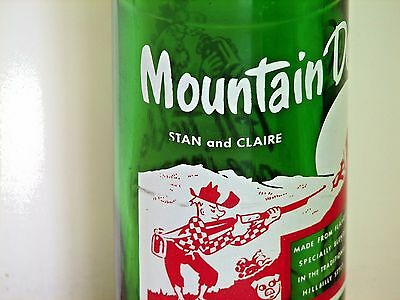 """Mountain Dew hillbilly ACL soda pop bottle, 10oz.; """"STAN and CLAIRE""""; Omaha, NE"""
