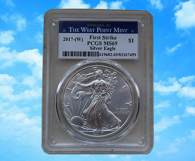 2017-W 1 oz Silver American Eagle $1 Coin PCGS MS 69 First Strike