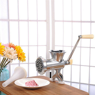 Meat Grinder Cast Iron Heavy Duty Hand Operated Crank Mincer Pasta Manual Maker