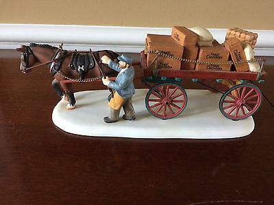 Dept 56 Dickens Village The Holiday Collection Chocolates Delivery Wagon