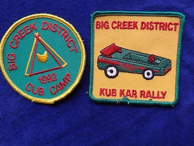 Boy Scouts Lot Big Creek District Kub Car Rally 1991 Camp 2 Vintage Patch Badge