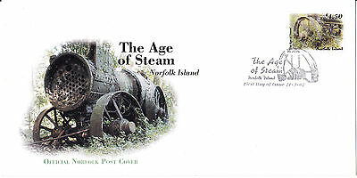 2002 - Norfolk Island -  The Age of Steam -   First day cover