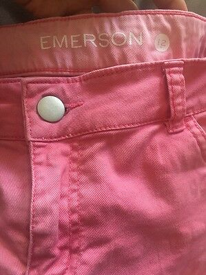 Emerson Pink Faded Washed Cuff Shorts Size 12