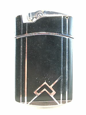 Art Deco black enamel Ronson Tuxedo combination lighter and cigarette case