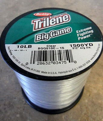 Berkley Trilene Big Game Mono Fishing Line, Clear - 10lb - 1500yds