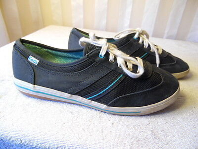 Keds Unisex Canvas Sports Athletic Shoes Sneakers Navy Blue Sz 7.5 Men 9.5 Women