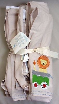 Pottery Barn Kids Baby Boy CIRCUS FRIENDS Nursery Crib Bed Skirt 100% Cotton NWT