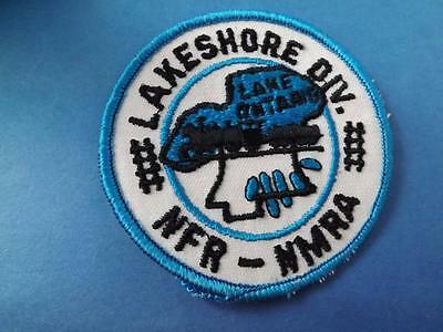 Nmra Lakeshore Division Patch Vintage Lake Ontario Model Train Collector