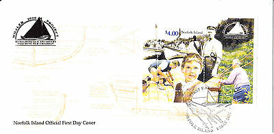 2000 - Norfolk Island - The Stamp Show 2000 minisheet -   First day cover