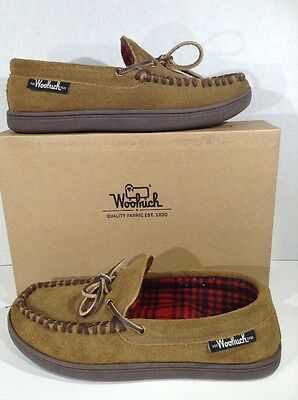 WOOLRICH Pottery County Men's Size 9 Brown Moccasin Slippers Shoes X3-2104