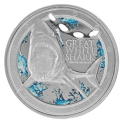 NZ Mint Niue Great White Shark 1 oz Silver Proof Coin