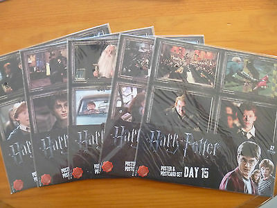 HARRY POTTER THE ULTIMATE COLLECTION..POSTER & POSTCARD SETS x 10...BRAND NEW