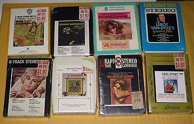 8 Track Tape, Original Sealed Packaging  (Lot of 8)